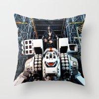 gundam Throw Pillows featuring Robotech by Danielle Tanimura