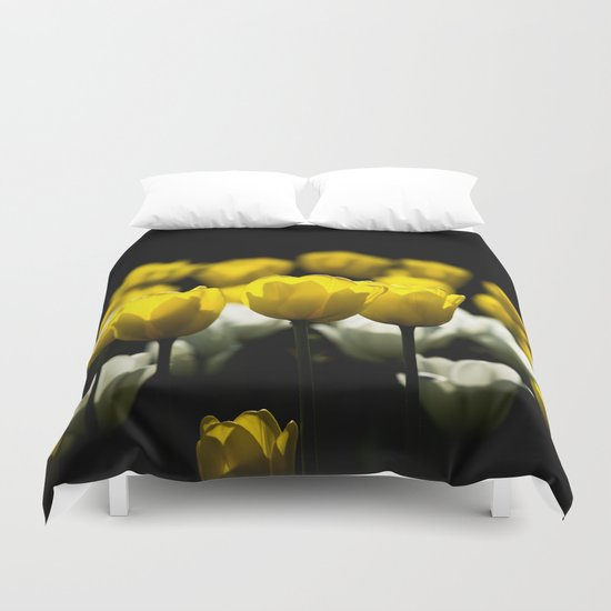 Tulips Yellow And White Duvet Cover