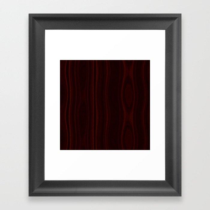 Mahogany Wood Texture Gerahmter Kunstdruck