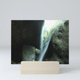 Nelsons Ledges Waterfall Mini Art Print
