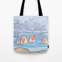 Japanese Snow Monkeys Tote Bag