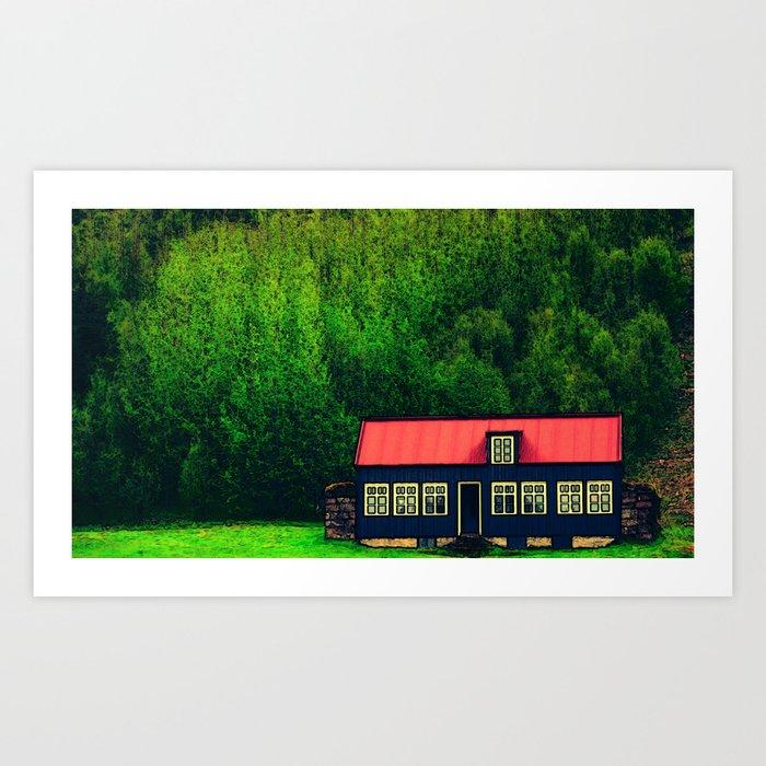 Little House on the Volcano  Art Print