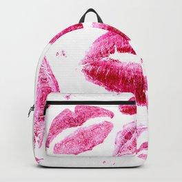 Kisses All Over (White) Backpack