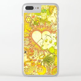 """The core of unequivocal, eternal & undying love"" Clear iPhone Case"