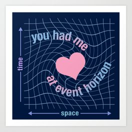 Love in Space Time Continuum Art Print