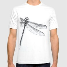 Dragonfly Mens Fitted Tee MEDIUM White