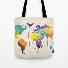 World Splash Tote Bag