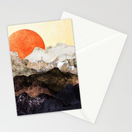 Marbled mountains by sunset Stationery Cards
