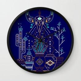 Santa Fe Garden – Navy Wall Clock