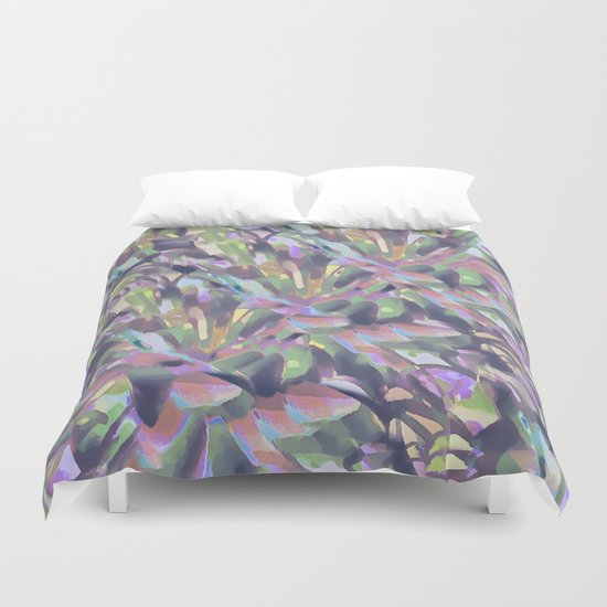 Soft Pastel Garden Abstract  Duvet Cover