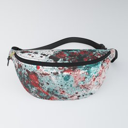 Red and teal splatters Fanny Pack