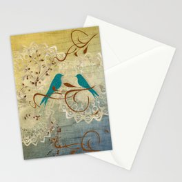 Bleu Birds Stationery Cards
