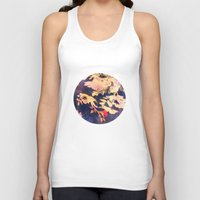 vintage floral Tank Tops featuring Floral by wendygray