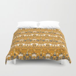 Yellow + Gray Fairy Tale Duvet Cover