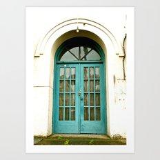 Urban doorway Art Print