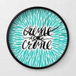 Crème de la Crème – Turquoise Wall Clock