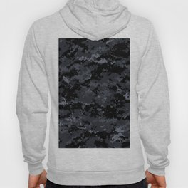 Pixelated Dark Grey Camouflage Hoody