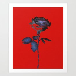 Enhancing the Ordinary (In red) Art Print