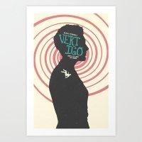 vertigo Art Prints featuring Vertigo by Bill Pyle