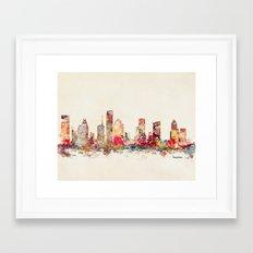 houston texas Framed Art Print