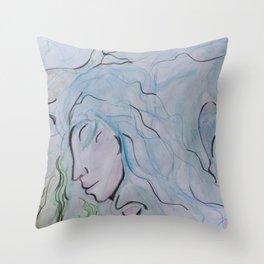 GODDESS OF LIQUID Throw Pillow