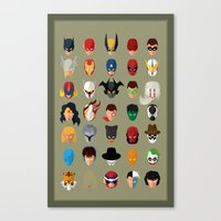 superheroes Canvas Prints featuring SuperHeroes by Luca Giobbe