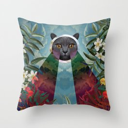 Chartreux Throw Pillow
