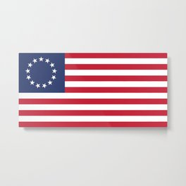 Betsy Ross flag of the USA - Authentic HQ version Metal Print