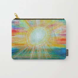 Watercolor Painting Sunset Seaview On Handcraft Paper Carry-All Pouch