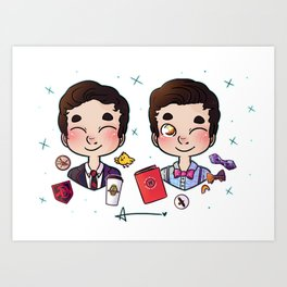 5 years of Blaine Anderson Art Print