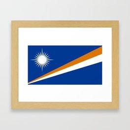 Marshall Islands Flag Framed Art Print