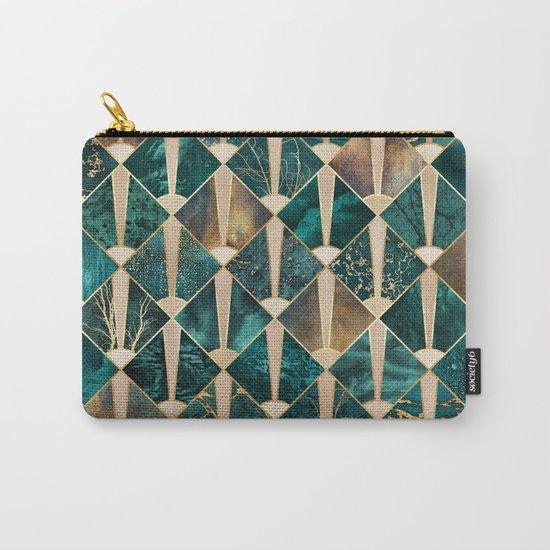 Art Deco Tiles - Ocean Carry-All Pouch