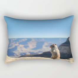 Adorable squirrel at the edge of the world Rectangular Pillow