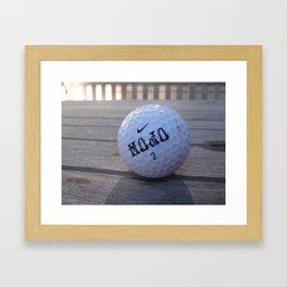 Mojo Golf Ball Framed Art Print
