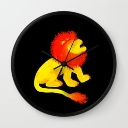 The Song of the Lion is Fire (dark) Wall Clock