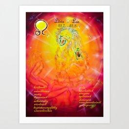 Zodiac sign Löwe Art Print
