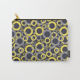 Yellow Grey Navy Blue Circle Pattern Pantone 2021 Color of the Years and Accent Shades Carry-All Pouch
