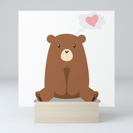 Love Me Bear Mini Art Print