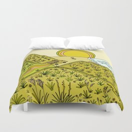 keen for a surf nz surf adventure by surfy birdy Duvet Cover