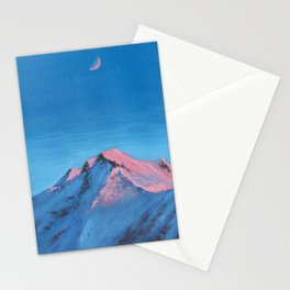 pink mountain tops Stationery Cards