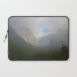 Fog Clearing at Yosemite Valley Laptop Sleeve