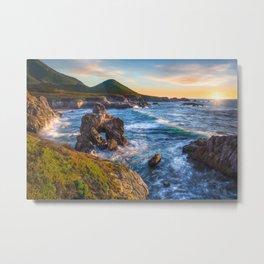 Soberanes Point Sunset, Big Sur Metal Print