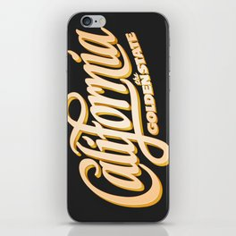 """""""The Golden State"""" T-Shirt iPhone Skin"""