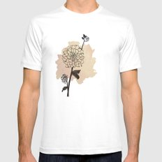 dahlias Mens Fitted Tee MEDIUM White