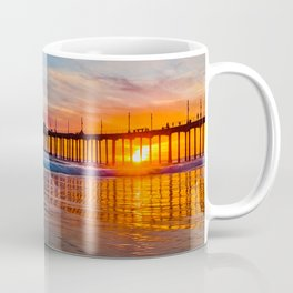 HB Sunsets - Sunset At The Huntington Beach Pier 3/10/16 Coffee Mug