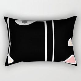 Twins Face (line drawing) Rectangular Pillow