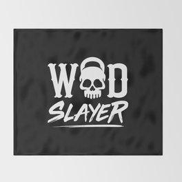 WOD Slay er Skull Throw Blanket