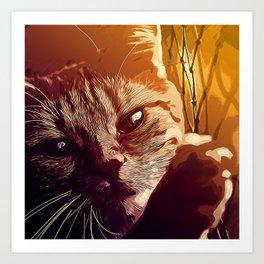 set your cat free vector art Art Print