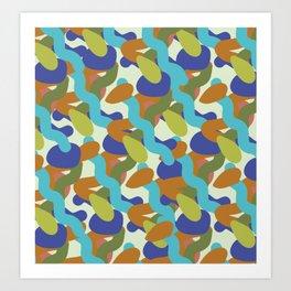 Peace camu Art Print