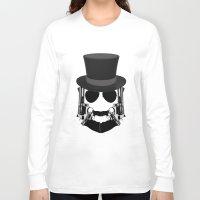 top gun Long Sleeve T-shirts featuring Gun Face by BuySkullCat